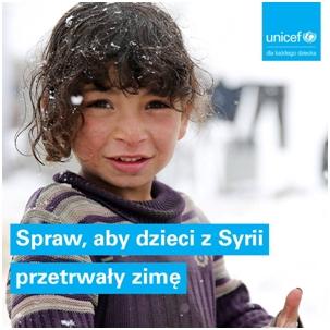 """Projekt edukacyjny UNICEF """"Spraw, aby dzieci z Syrii przetrwały zimę"""""""
